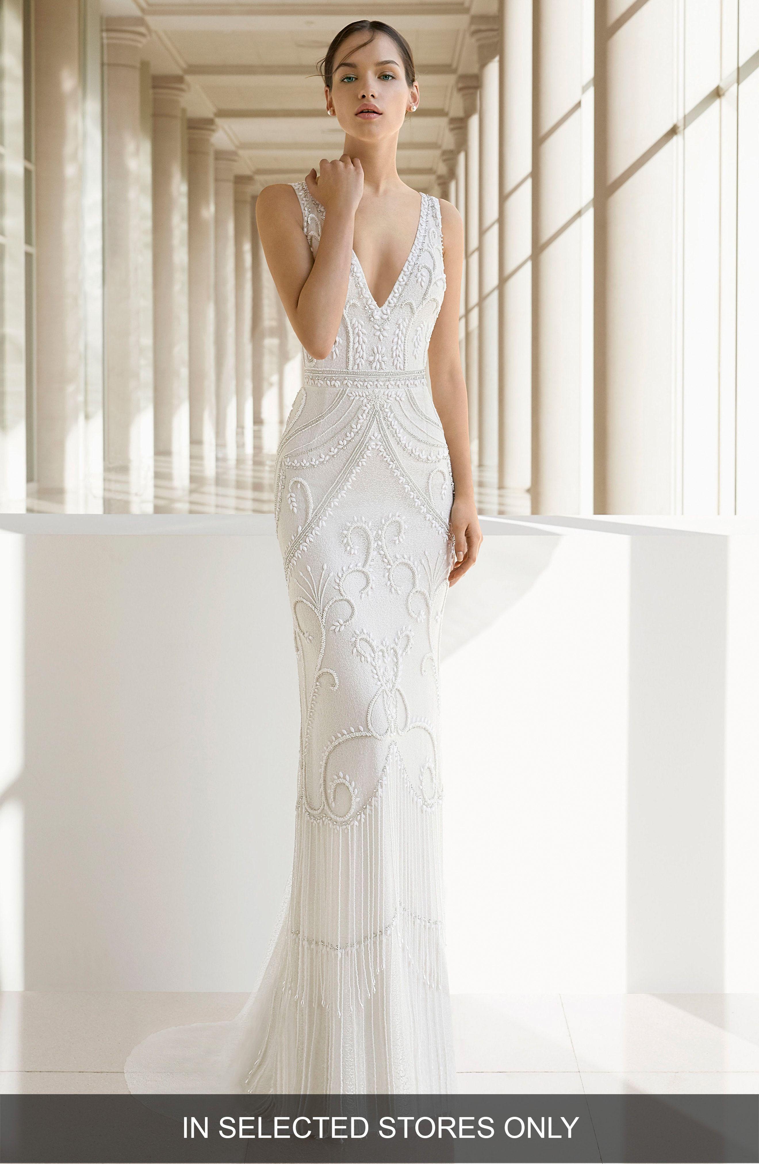 Nordstrom Wedding Dresses.Rosa Clara Soft Rosa Clara Kara Beaded Trumpet Gown