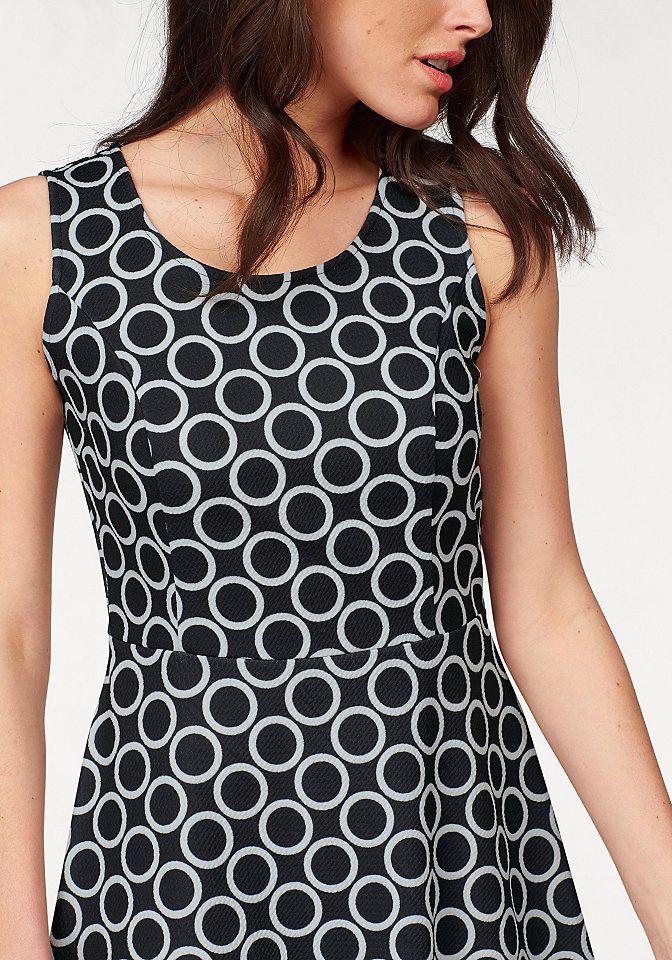 Vivance Jerseykleid mit kontrastfarbenem Alloverprint ...