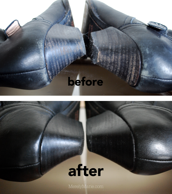 Fix Scuffed Black Shoes