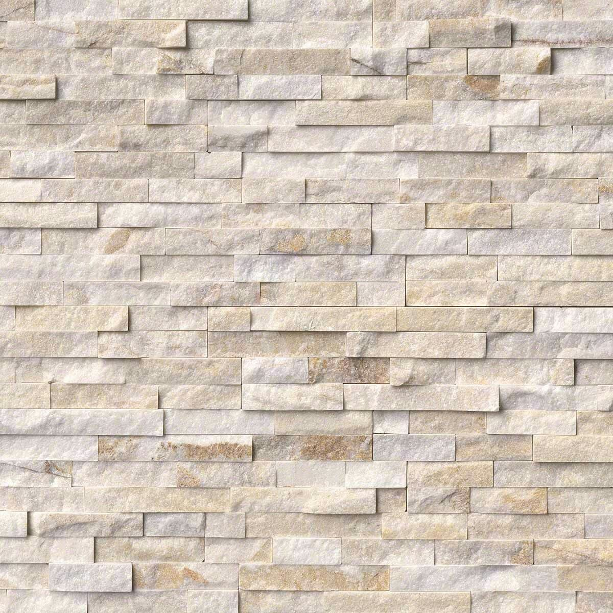 Msi Arctic Golden Stacked Stone Travertine Wall Tiles Stacked Stone Panels Marble Wall Tiles