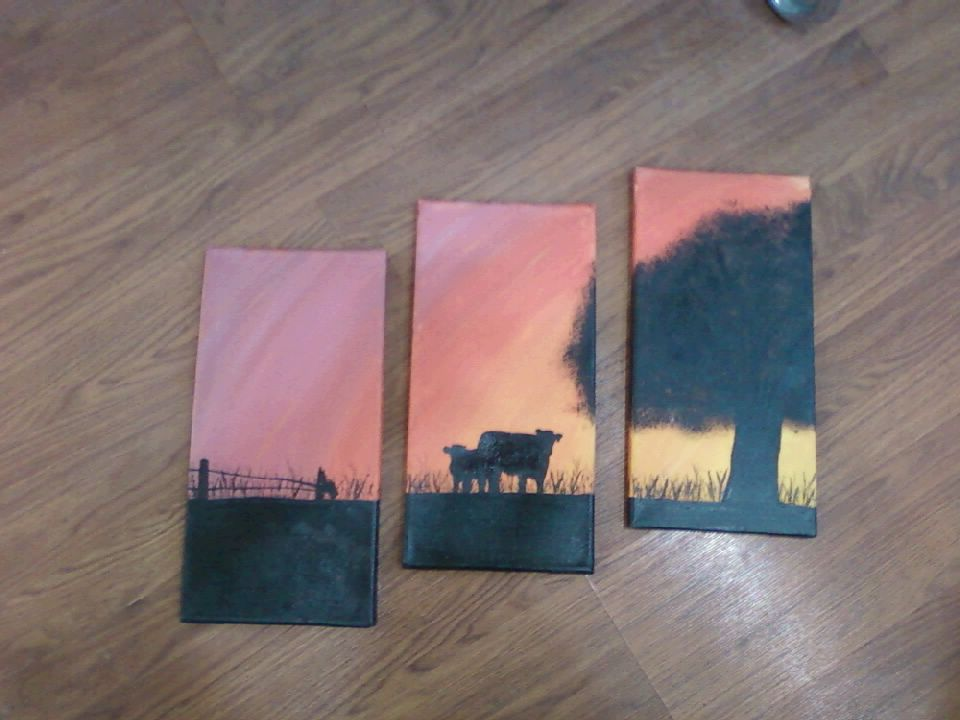 other pinner said:3 part painting I did as Christmas gift for my ...