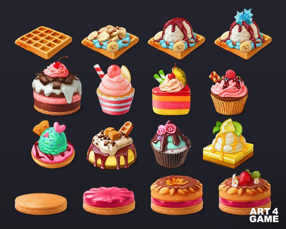 Panda Cookie Cakes Art4 Game On Artstation At Https Www