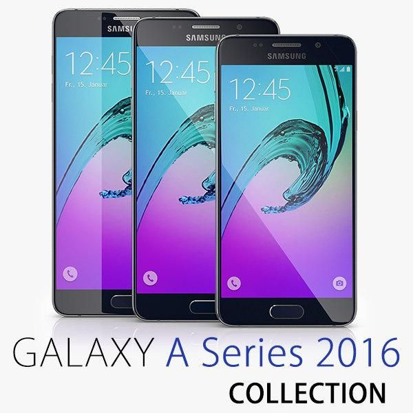 Samsung Galaxy A 2016 Series Collection 3D Model ,#Galaxy#Samsung#Model#Collection