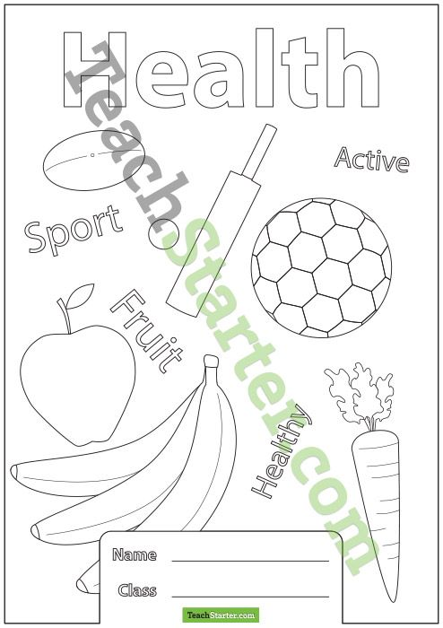 Book Cover Ideas Primary School : Health book cover teaching stuff pinterest