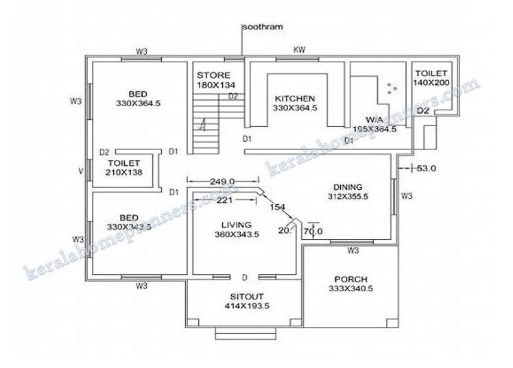 4 Bedroom House Plans Indian Style Kerala House Design Kerala Houses House Design
