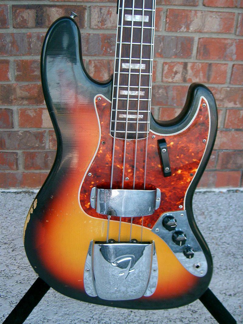 Vintage Fender Jazz Bass Guitars Panosundaki Pin