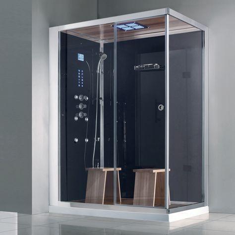 Douche Style Hammam douche à l'italienne moderne avec sauna et hammam   maison - sdb