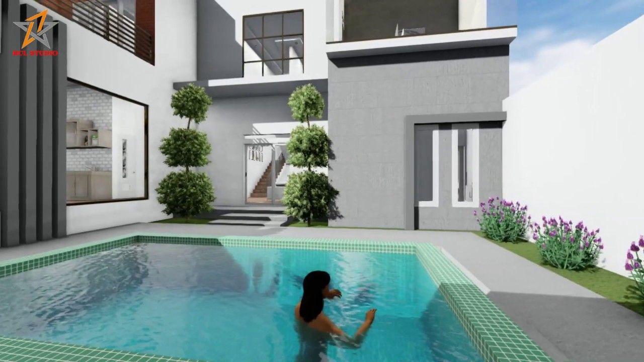 Desain Rumah Yang Ada Kolam Renang Cek Bahan Bangunan