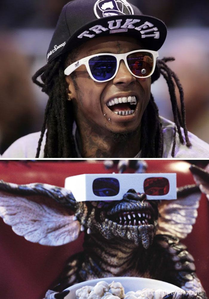 Lil Wayne Or Gremlin With 3D Glasses? | Crazy celebrities, Funny pictures,  Funny