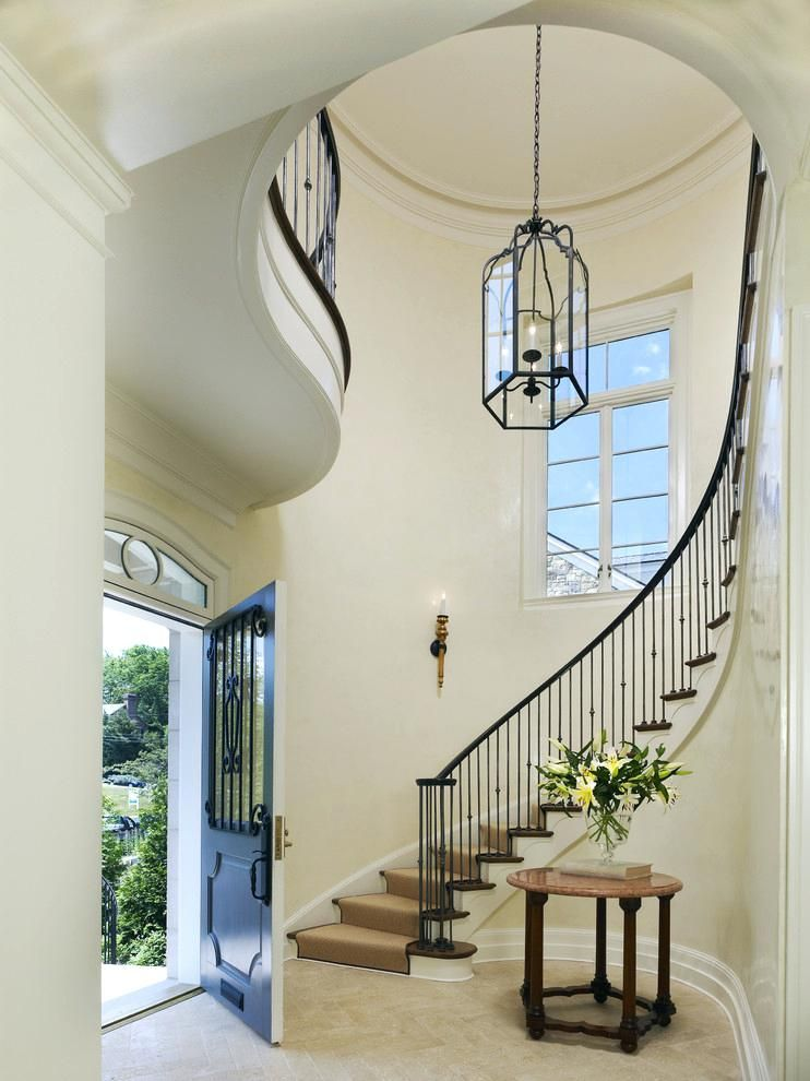 2 Story Foyer Chandelier Chandeliers Entry With Arrangement Cream Hall