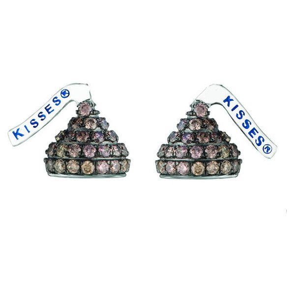 b0a3516e5413e Hershey's Kisses Hershey's Kiss Brown Diamond Stud Earrings 14k ...