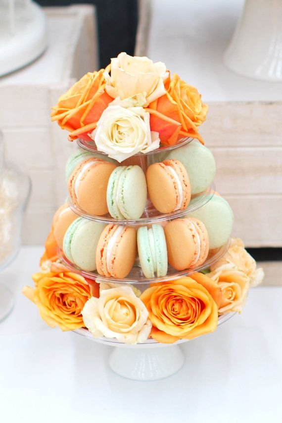 Mini Macaron Tower 4 Tier Adjustable Height Macaron Tower Macaron Stand French Macaron Display