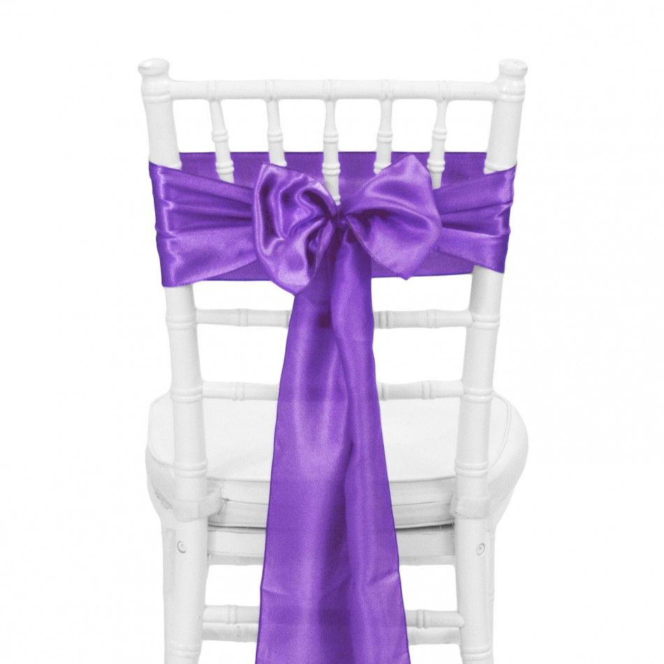 Satin Chair Sash - Plum Purple [424583] : Wholesale Wedding Supplies ...