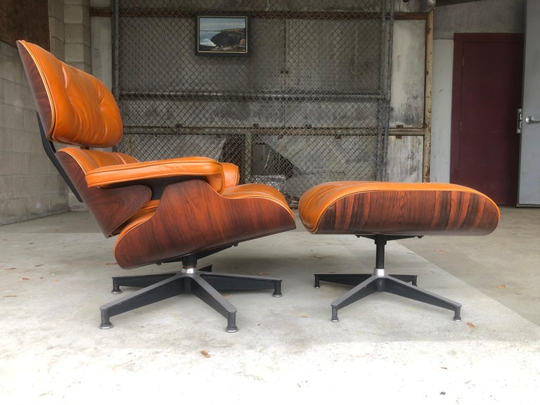 Rare Custom Herman Miller Eames Lounge Chair And Ottoman In Burnt Orange Eames Lounge Chair Chair And Ottoman Eames Lounge