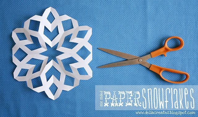 paper snowflakes - how to