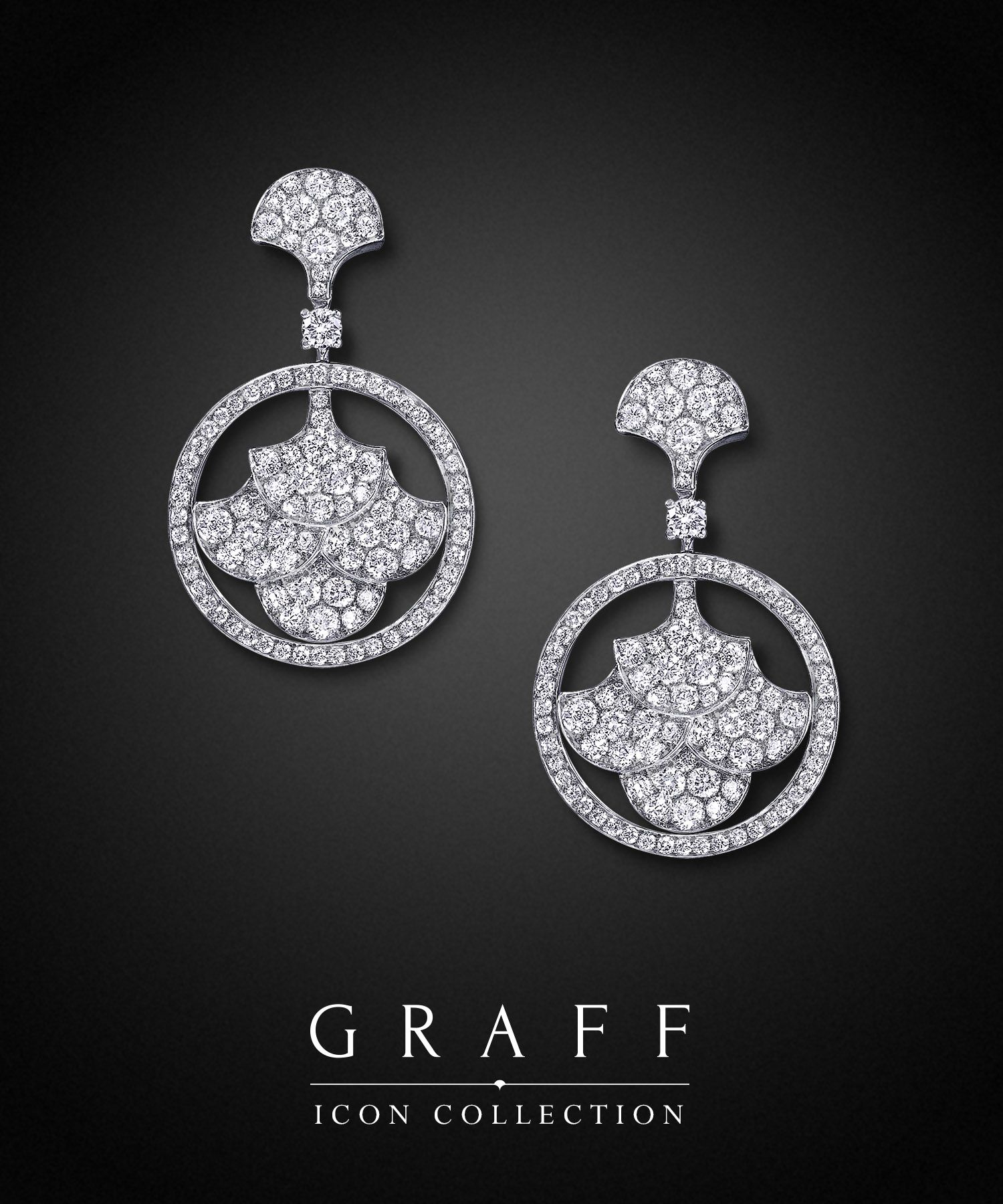 pair emerald featuring graff classic earrings a of square collections with diamonds diamond cut pave hooks swan