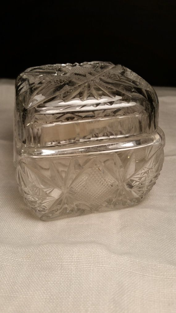 Crystal Salt Cellar with Lid and Scoop by ShellysSelectSalvage & Crystal Salt Cellar with Lid and Scoop by ShellysSelectSalvage ...