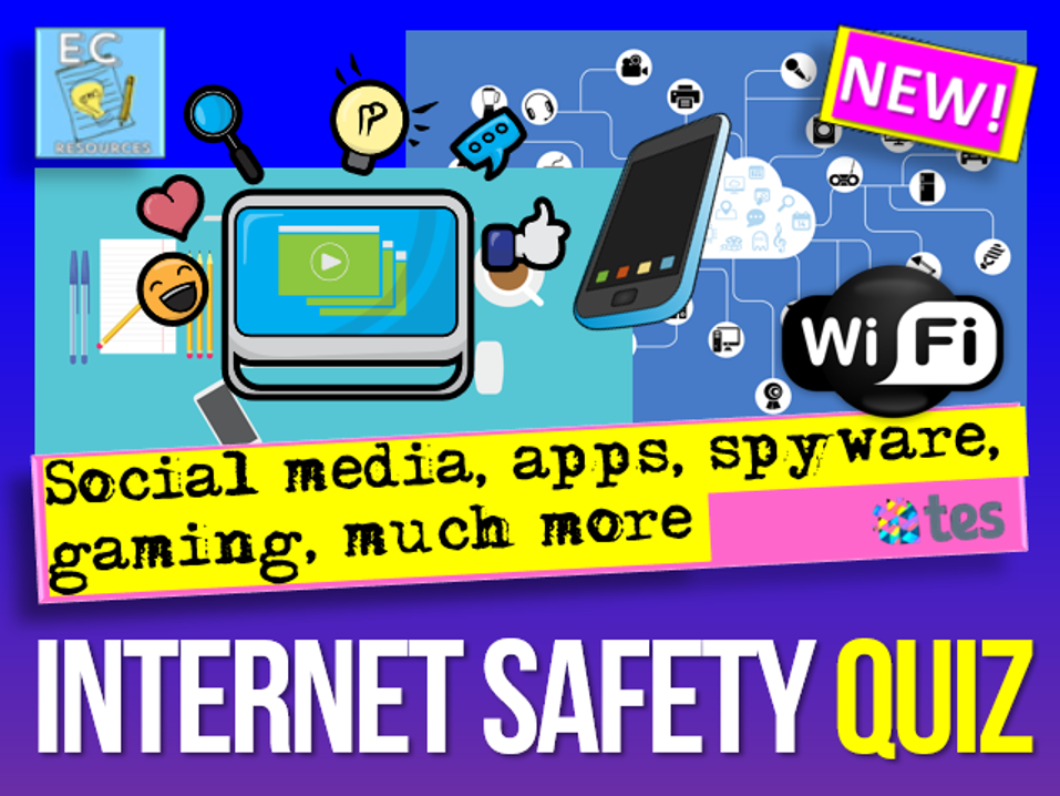 Online Safety Quiz Internet Safety Safe Internet Internet