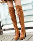 Womens Buckle Strap Lace Up Tassel Punk High Heel Over Knee Boots Shoes SA14 - http://shoes.goshoppins.com/womens-boots/womens-buckle-strap-lace-up-tassel-punk-high-heel-over-knee-boots-shoes-sa14/