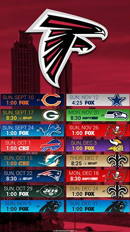 Atlanta Falcons 2017 City Mobile Schedule Wallpaper Atlanta Falcons Wallpaper Atlanta Falcons Atlanta Falcons Art