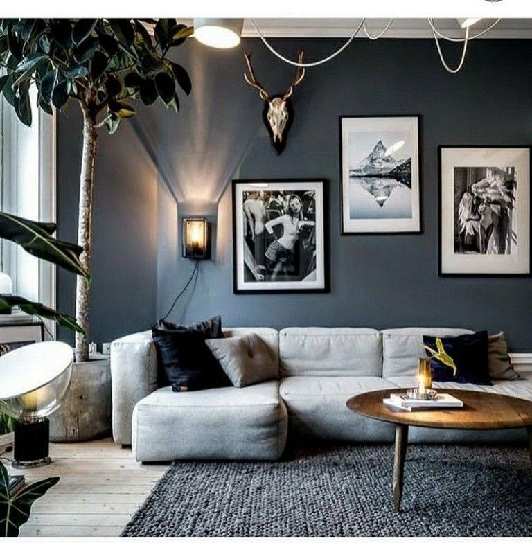 23 Cool Black And White Wall Gallery Decorating Ideas For Living Room Blue Living Room Living Room Designs Living Room Grey