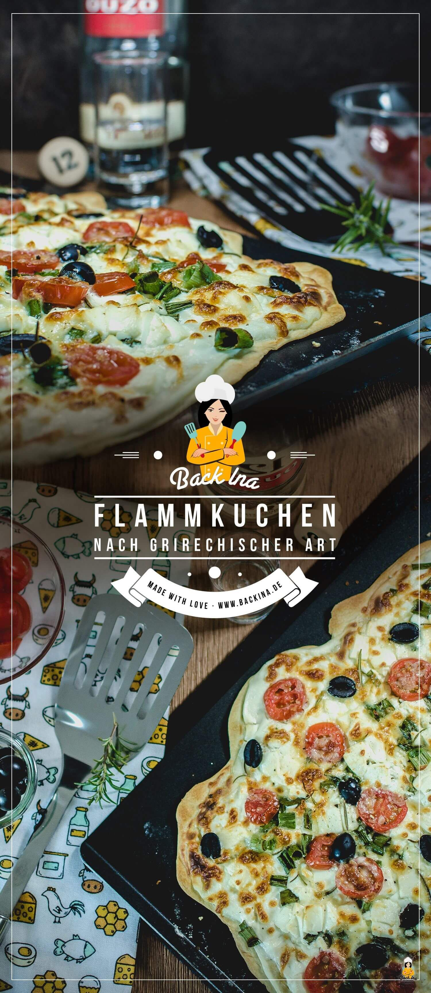 ultrad nne flammkuchen griechischer art vegetarisch brunchrezepte pinterest flammkuchen. Black Bedroom Furniture Sets. Home Design Ideas