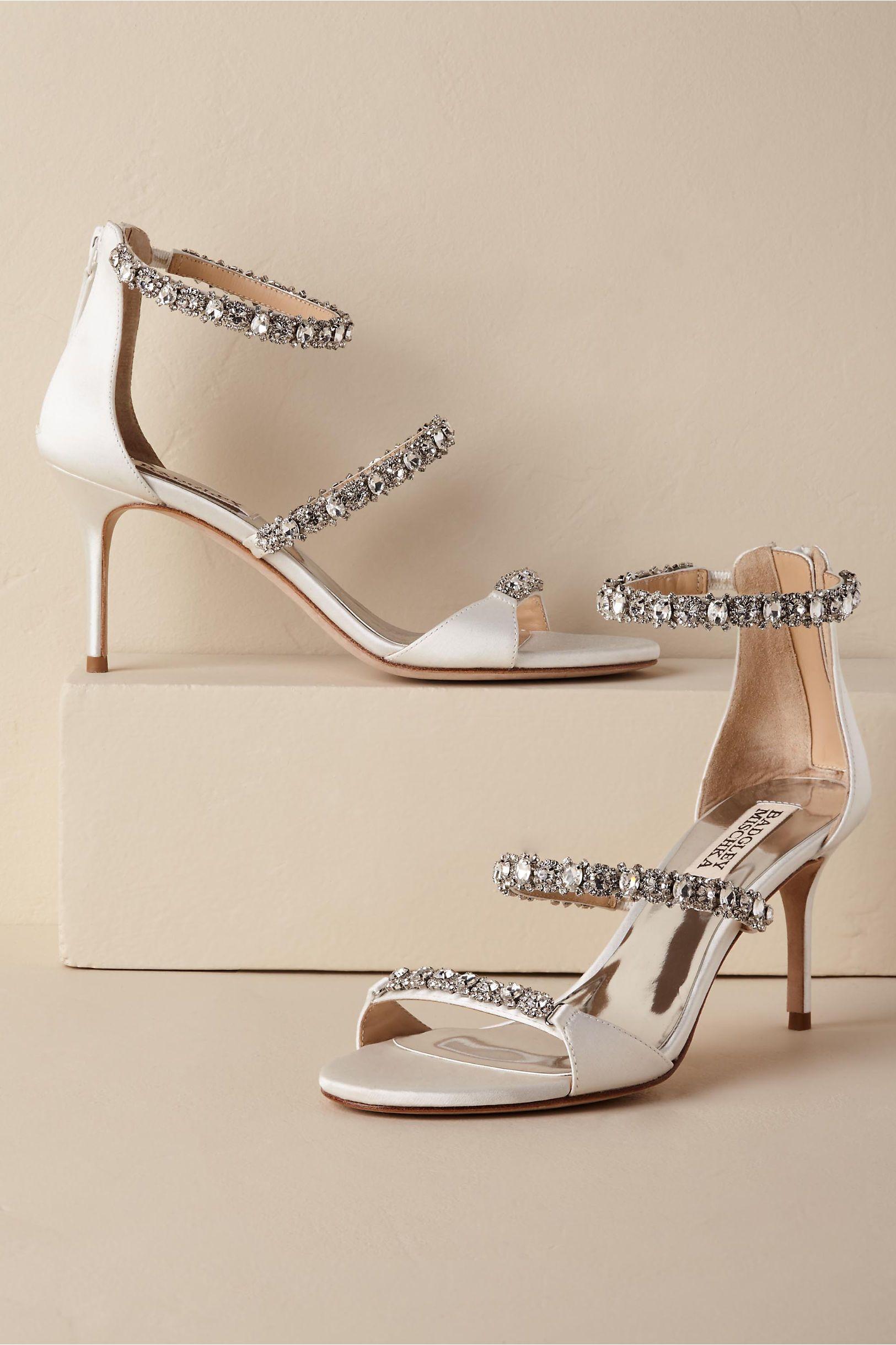 93e37427016 BHLDN s Badgley Mischka Yasmine Heel in White Bhldn Wedding