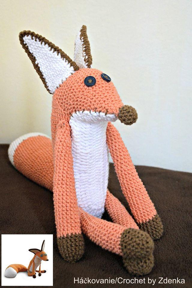 Crochet zorro rojo Amigurumi Fox muñeca de juguete sonajero|doll ... | 960x640