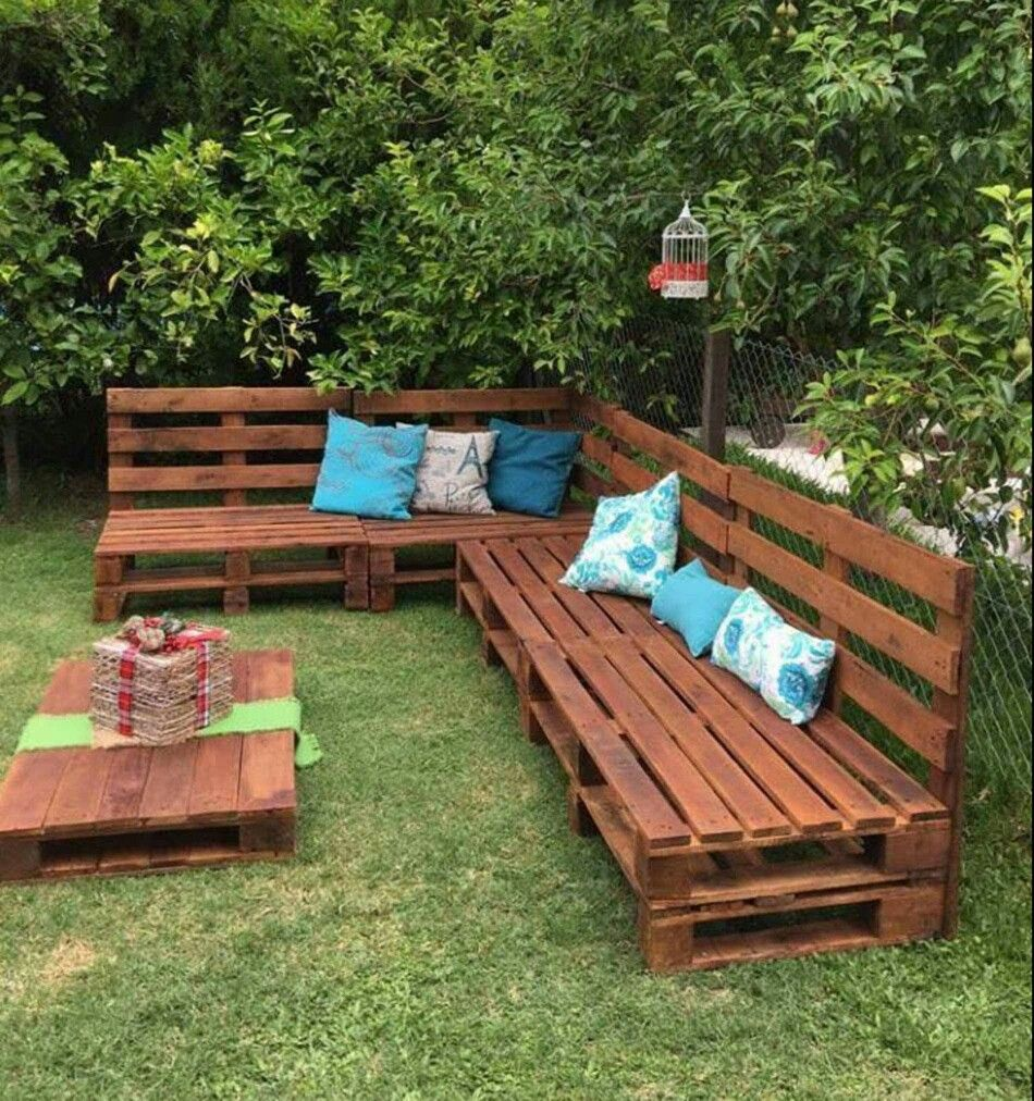Pallet furniture | Backyard Oasis | Pinterest | Palets, Madera y ...