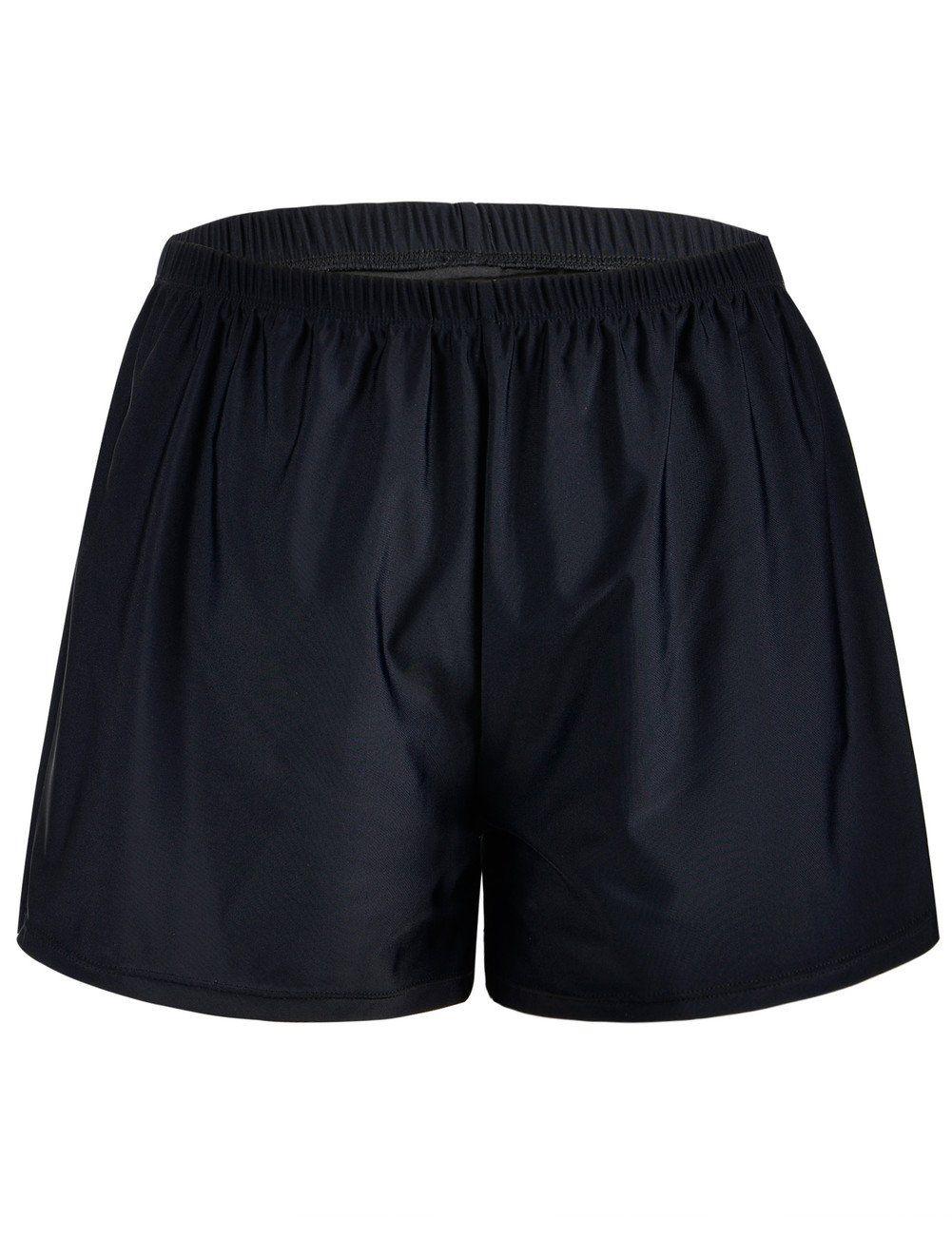 693eab53a9 Firpearl Women's Swim Board Shorts Sport Boyleg Trunk Swimwear Bottom Black  US18. High waist,