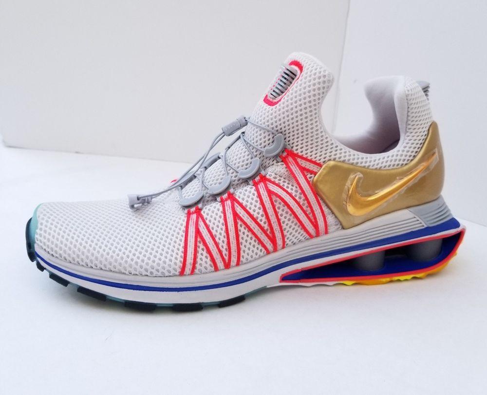 8422490e762970 NEW Nike Shox Gravity Mens Olympic Shoe Vast Grey Metallic Gold AQ8553 009  SZ 10  Nike  RunningCrossTraining