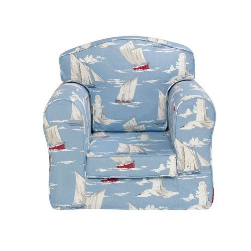 Sail Boat Loose Cover Chair Churchfield | Kids rocking chair