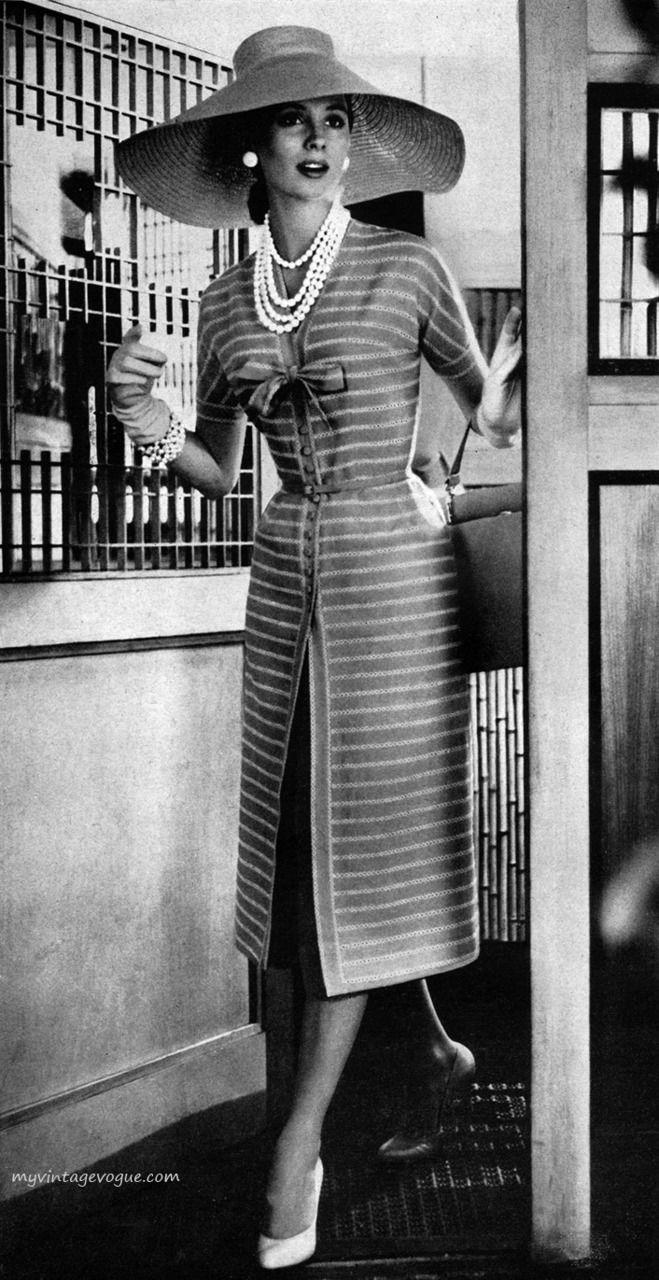 Suzy Parker Wearing Moygashel 1957 Vintage Fashion Vintage