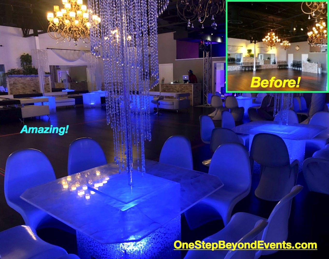 4 X4 Led Tables Seat 8 Guests 75 Rentals For Events Parties In 2020 Glow Table Cocktail Tables Event Rental