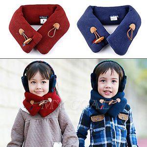 Toddler Kid Baby Girls Boys Scarf Plush Fur Winter Warmer Muffler Scarves Wraps