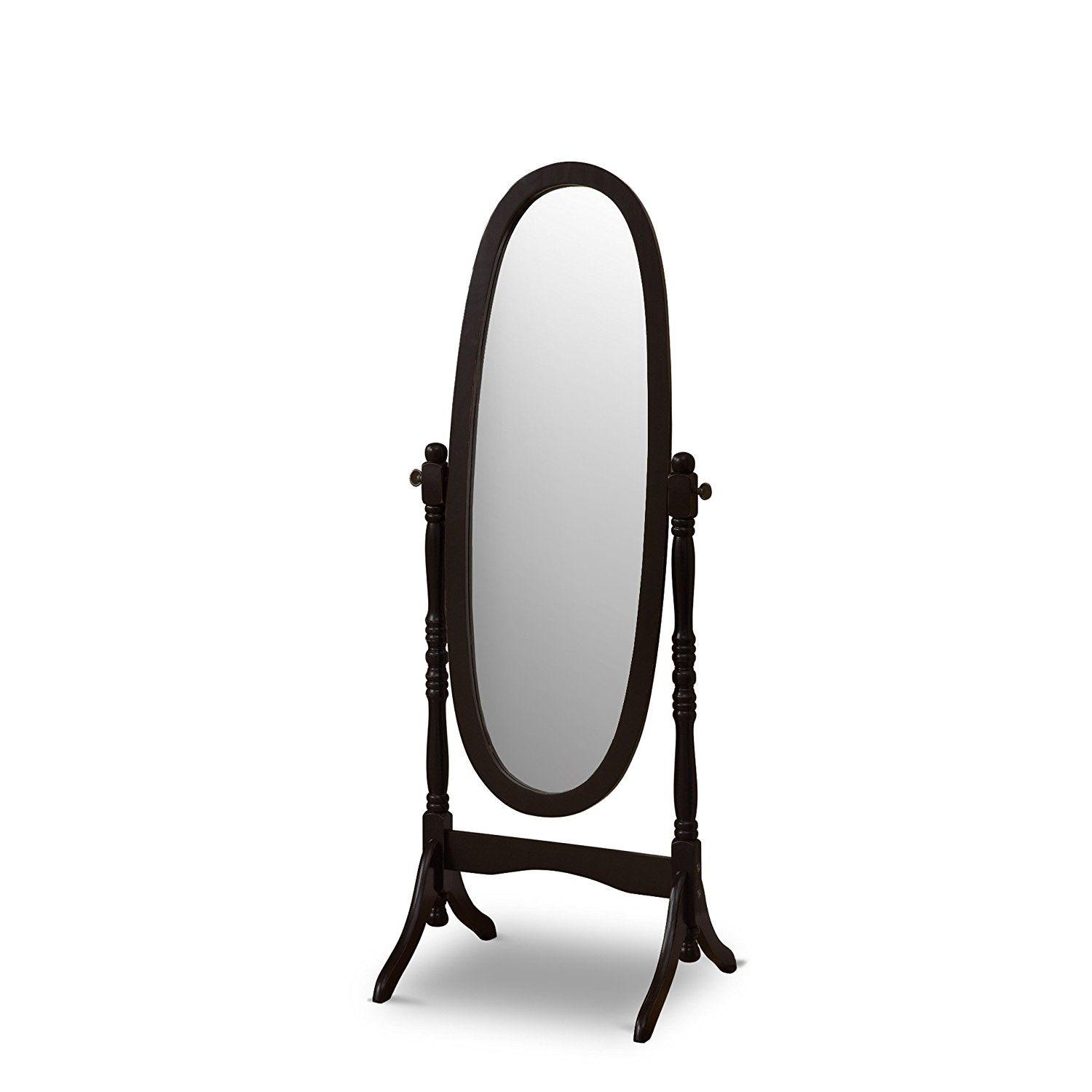 Poundex Victoria Floor Mirror Black *** More info could be