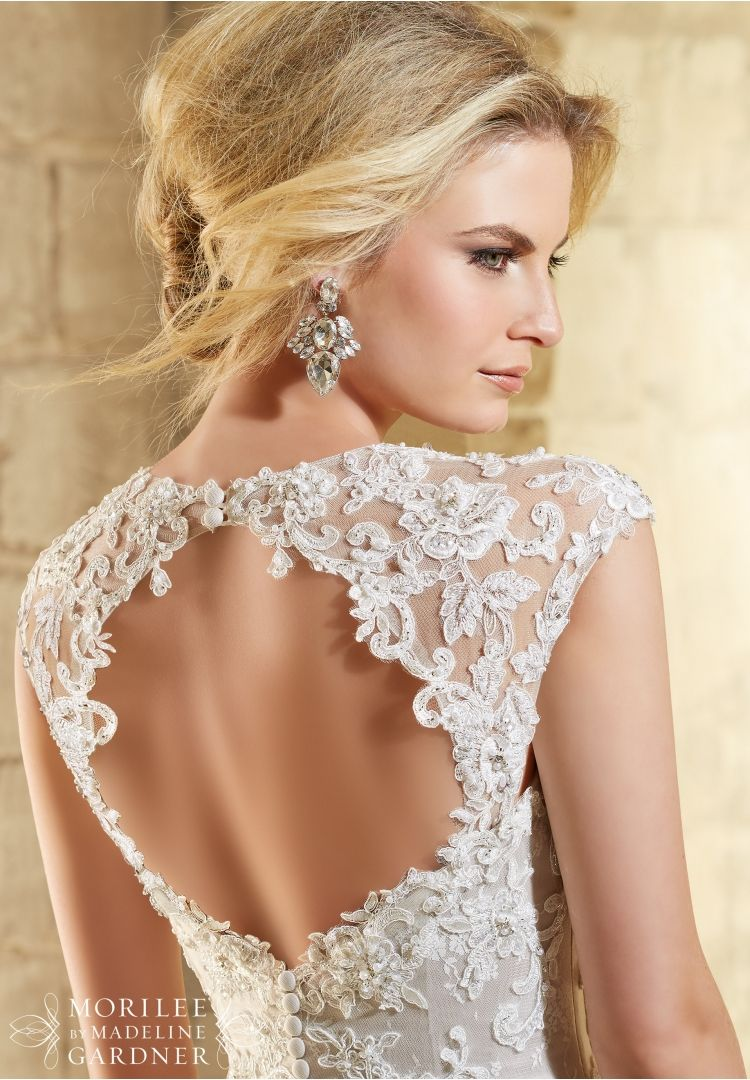 Venice Lace and Embroidered Appliqués on Net Over Soft