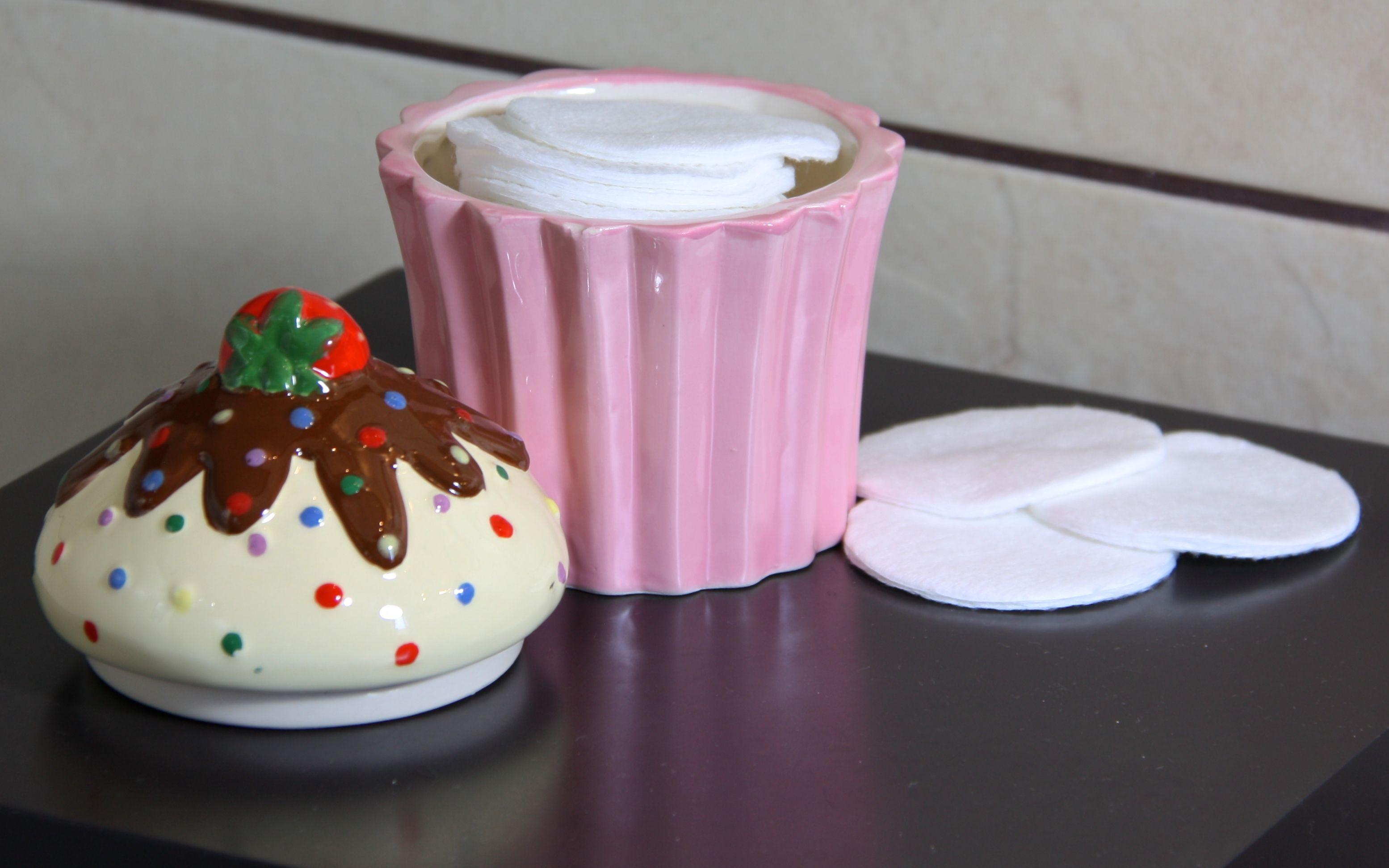 """Pot cupcake """"J'aime les fraises"""""""