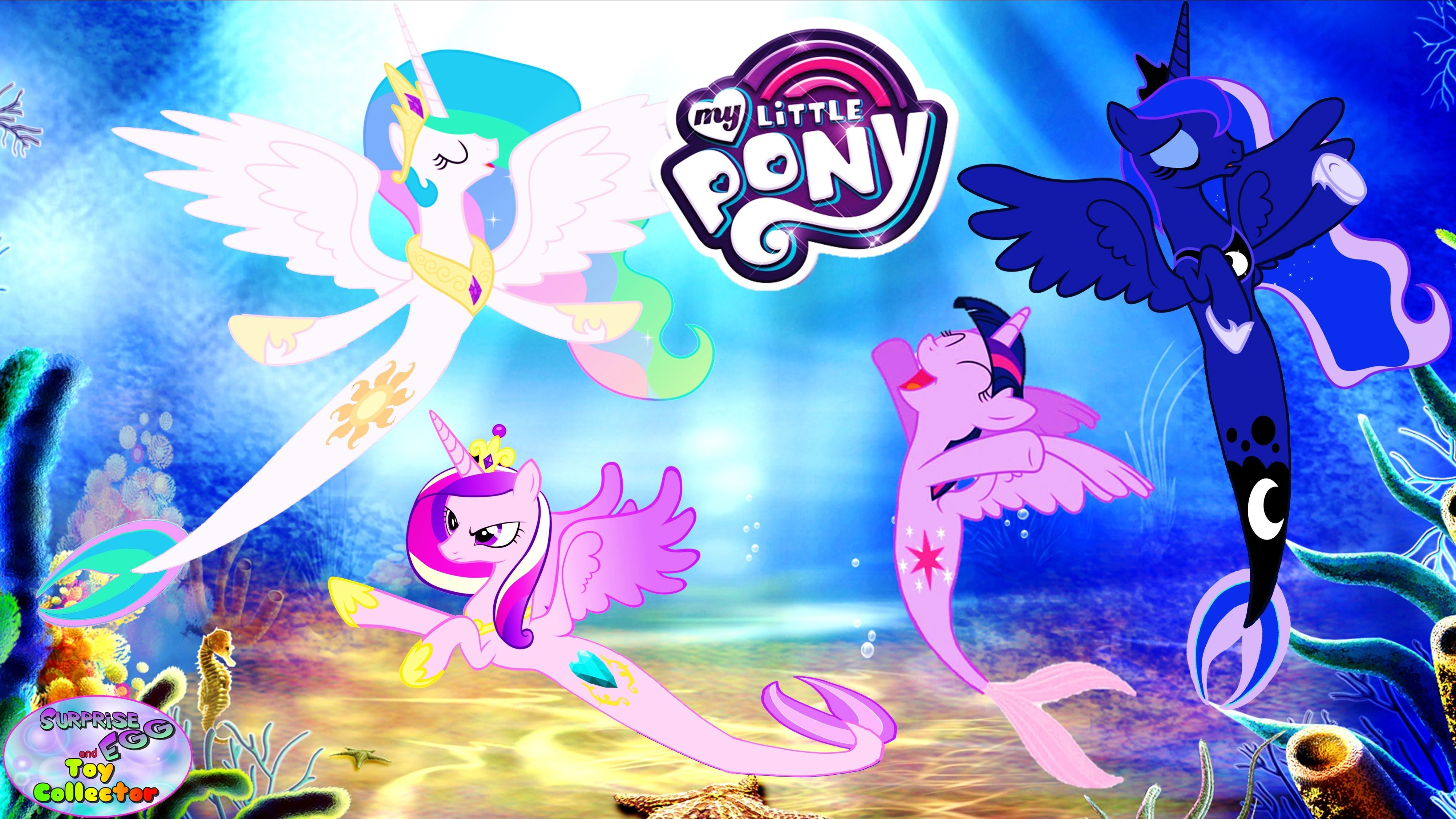 My Little Pony Princesses Transforms Into Princess Mermaids Surprise Egg In 2020 My Little Pony Princess My Little Pony Little Pony