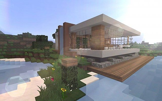 Place House Minecraft Minecraft Houses Lake House Minecraft