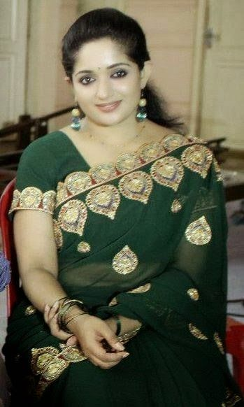 Malayalam Actress Fake Navel: Kavya Madhavan Latest Saree Photos Sexy Malayalam Actress