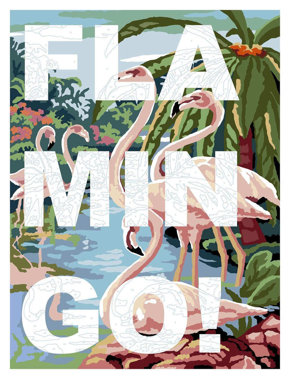 FLAMINGO! Limited Edition Screen Print (edition of 50) 56 x 76 cm 2016 This artwork is available to buy exlusively through Print Club London