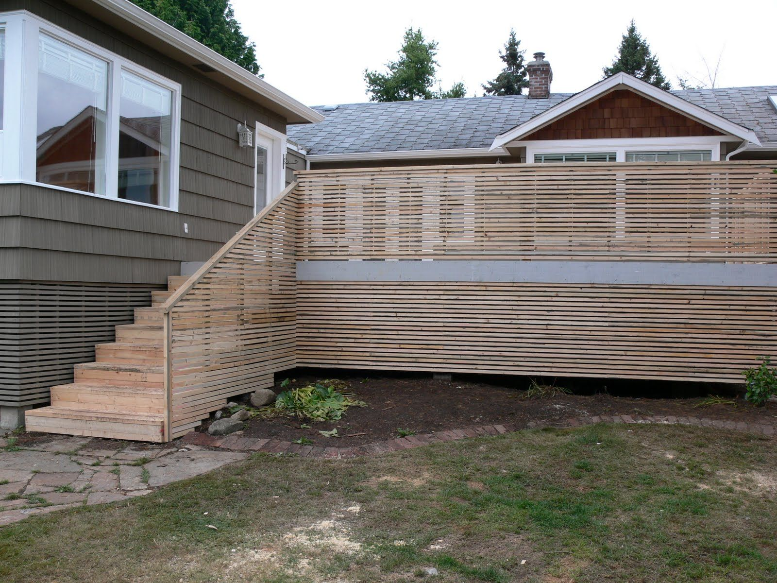 Best Modern Exterior Deck Stairs Horizontal Pickets Google 400 x 300