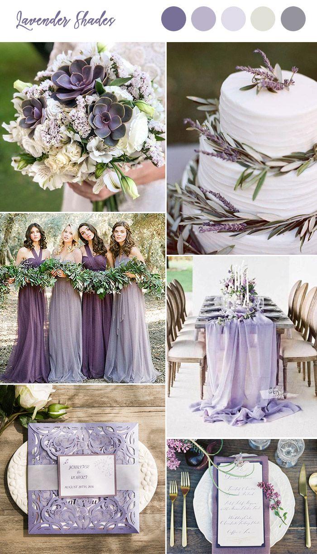 lavendeltinten lente en zomer bruiloft kleuren