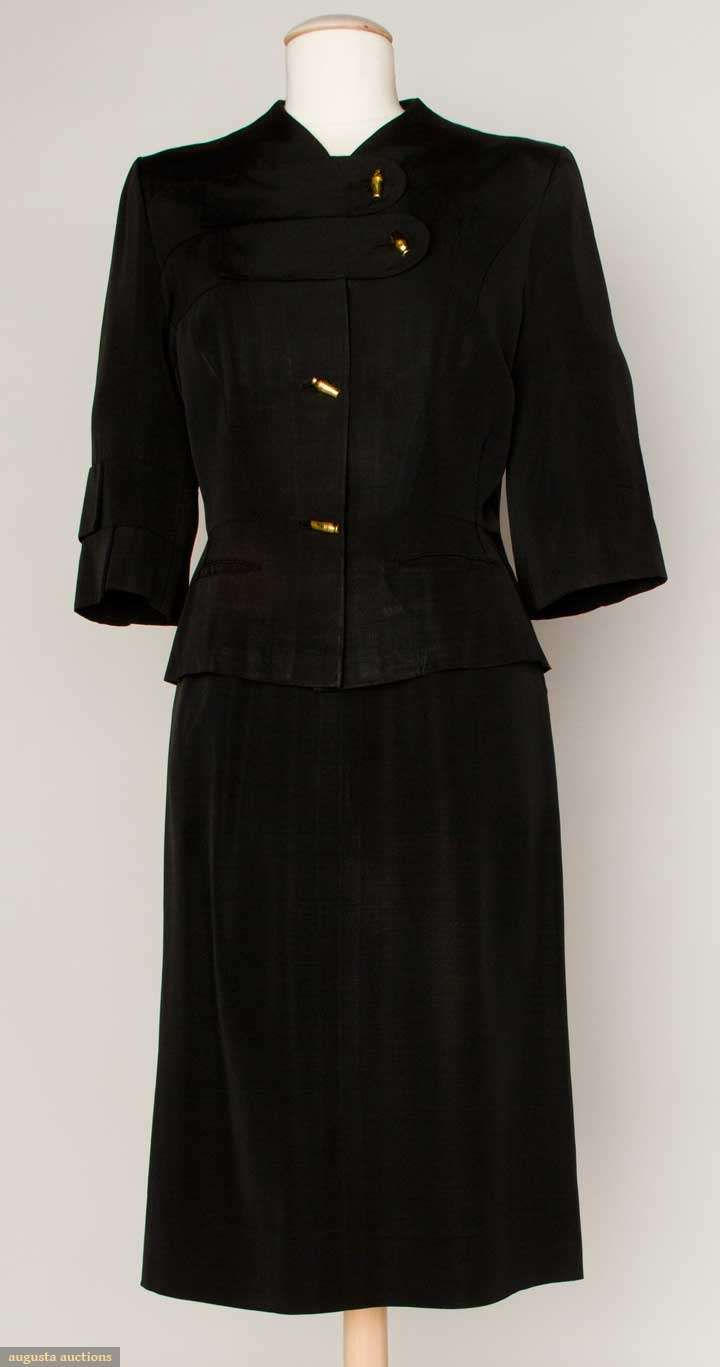Adrian Afternoon Skirt Suit, 1940-1950s