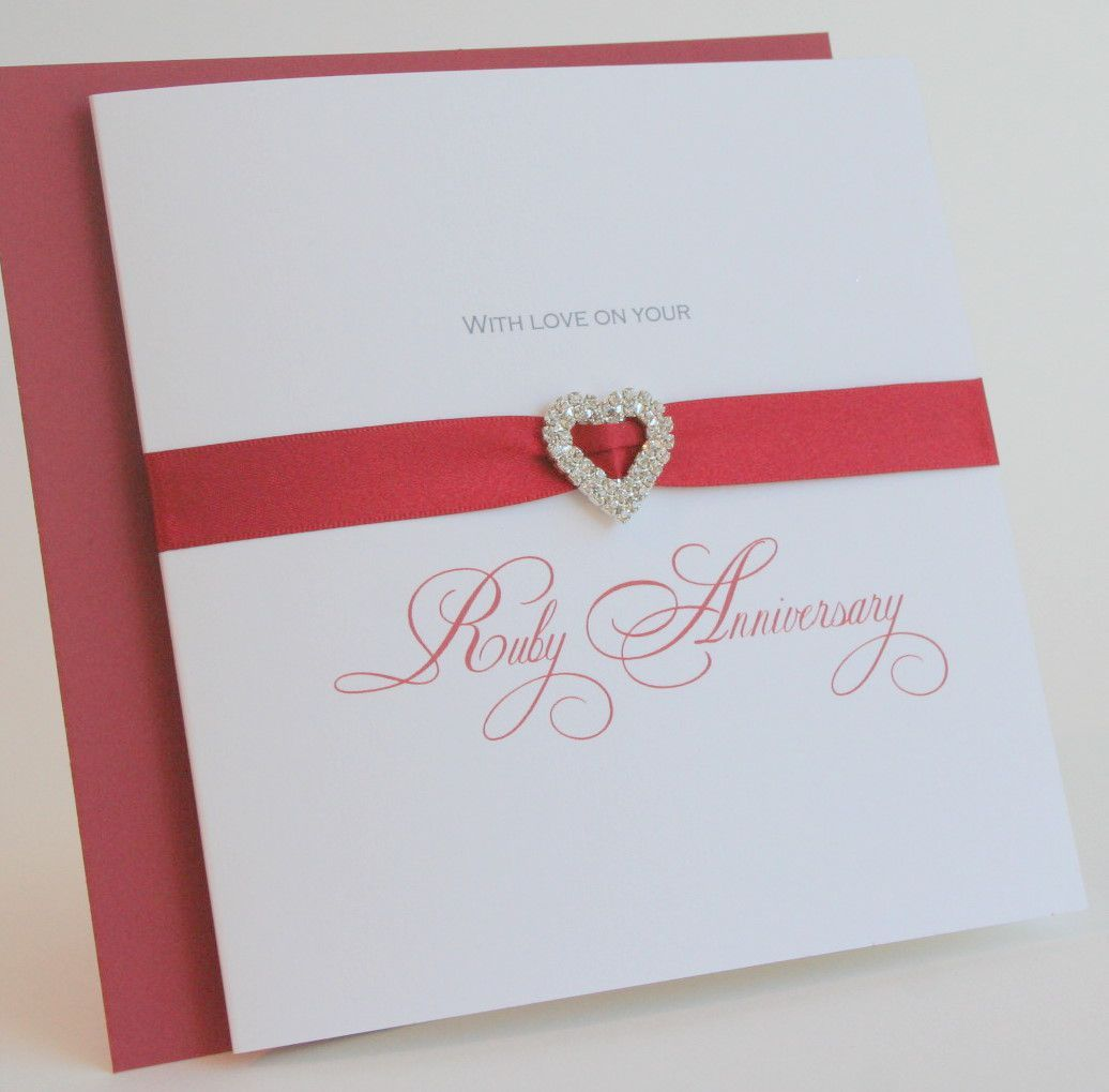 Ruby Wedding Invitations Templates Free Anniversary Party