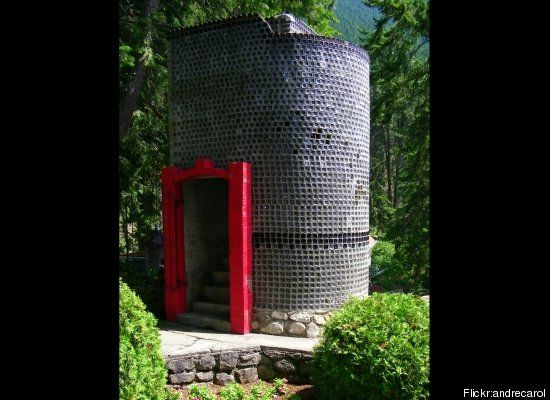 Glass Bottle House: Boswell, Canada