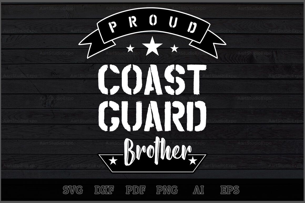 Download Proud Coast Guard Brother SVG Design By Creative Art ...