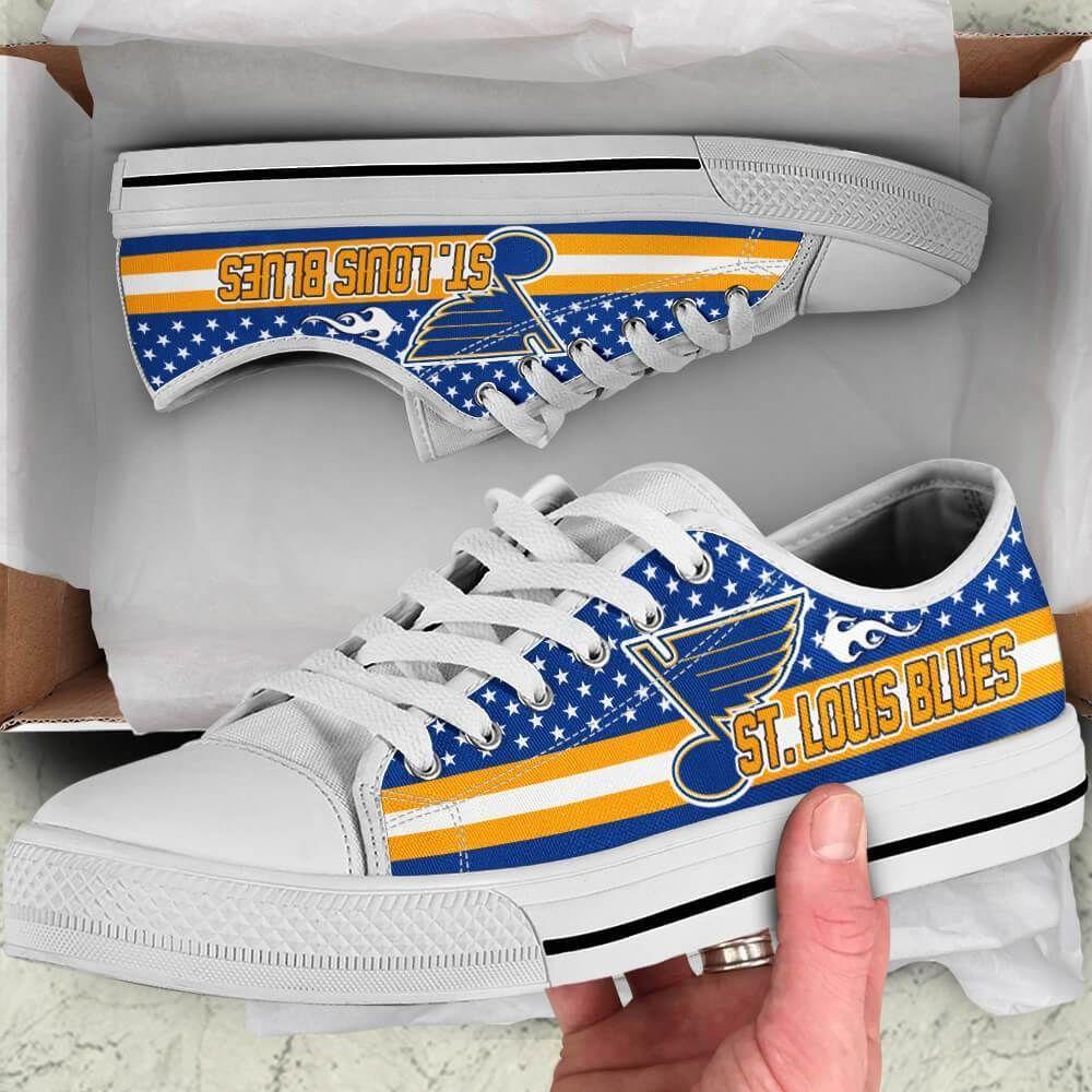St. Louis Blues Legend Since 1967 NHL Hockey Teams Blue Low Top Shoes - Geek Tarven     Shipping me