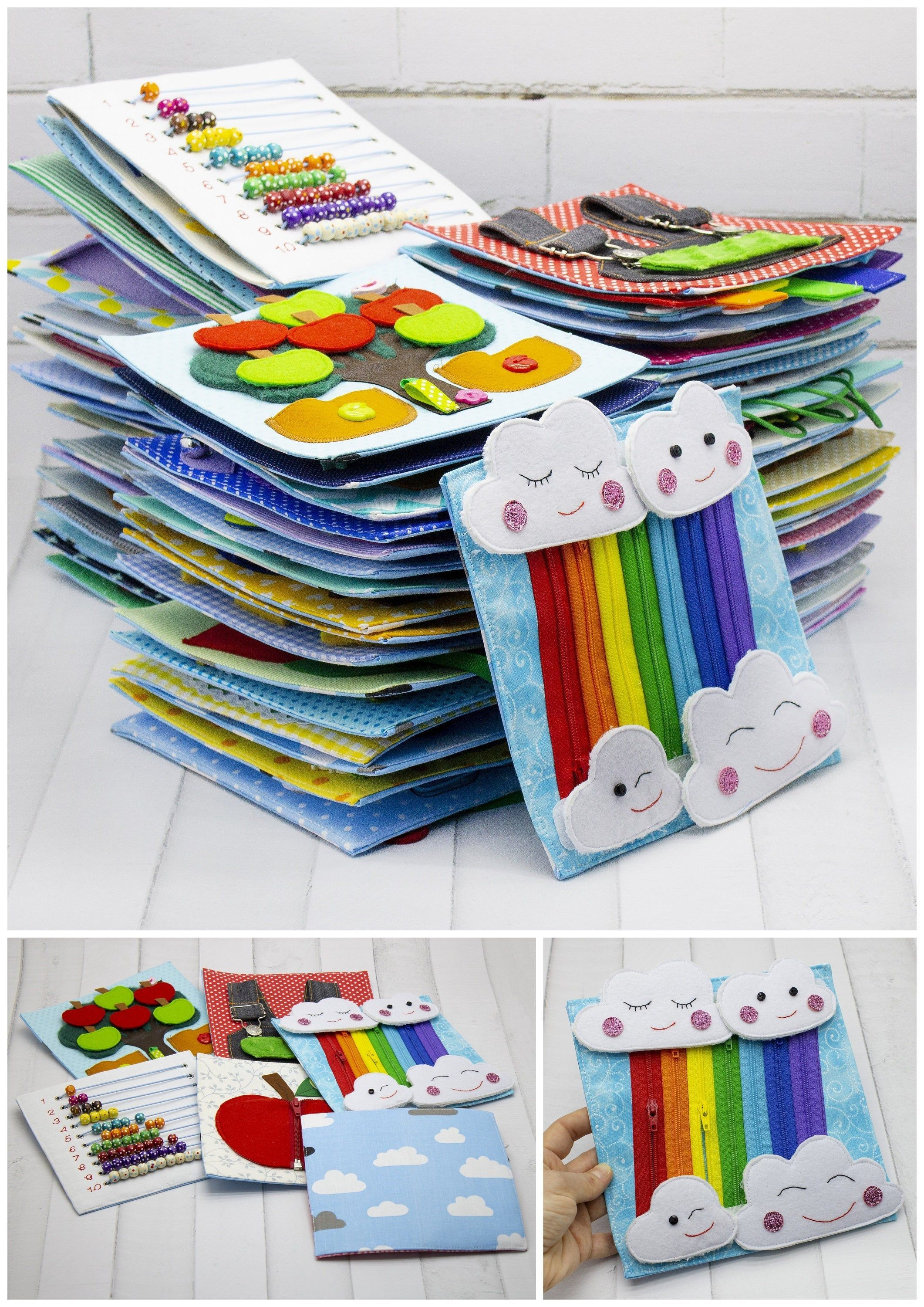 Quiet busy book cards for toddler 1 - 5 year old, Board ...